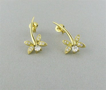 thumbnail image of Hearts On Fire Potpourri Dragon Fly Diamond Earrings