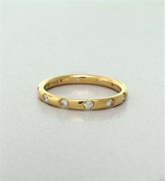 thumbnail image of New Pomellato Lucciole 18k Yellow Gold Diamond Band Ring Size 53