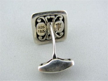 image of John Hardy Sterling Silver 18K Gold Palu Square Cufflinks