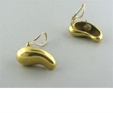 image of Vintage Tiffany & Co Elsa Peretti 18k Gold Earrings
