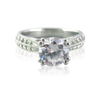image of Scott Kay Platinum Engagement Ring Setting For 1.50ct