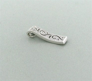 thumbnail image of Simon G 18k White Gold Diamond Necklace Slide Pendant