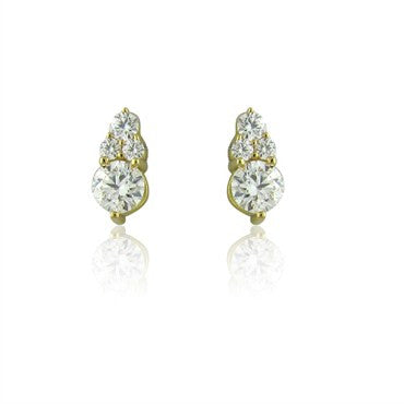 thumbnail image of Hearts On Fire Triplicity 1.20ctw Diamond Stud Earrings