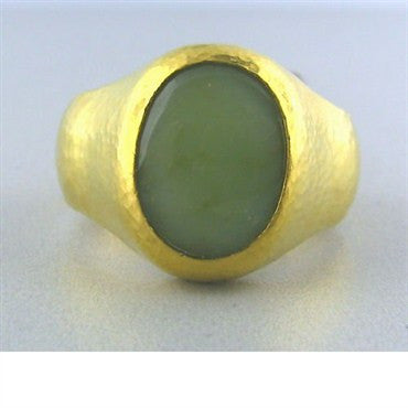 image of New Gurhan 24k Gold 6.60ct Opal Ring