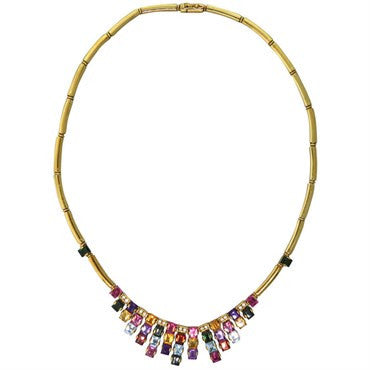 image of H Stern Gold Gem Set Diamond Necklace