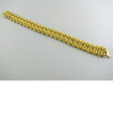 thumbnail image of Estate Vintage Tiffany & Co 18k Gold Floral Bracelet