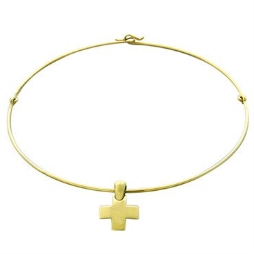 thumbnail image of New Pomellato 18k Gold Cross Pendant Necklace