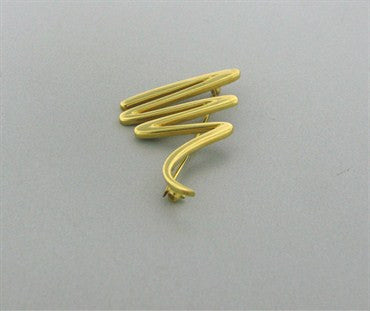 image of Estate Tiffany & Co Paloma Picasso 18k Yellow Gold Zig Zag Brooch Pin