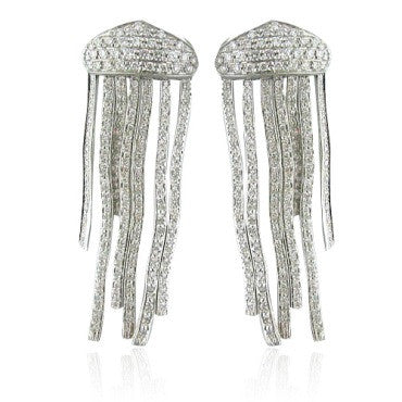 image of Roberto Coin 18k Gold 2.20ctw Diamond Earrings