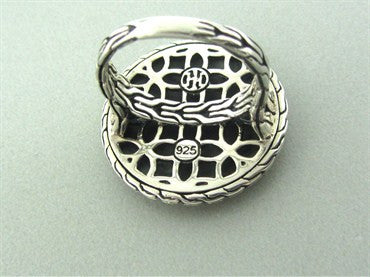 thumbnail image of John Hardy Kawung Collection Sterling Silver White Enamel Ring