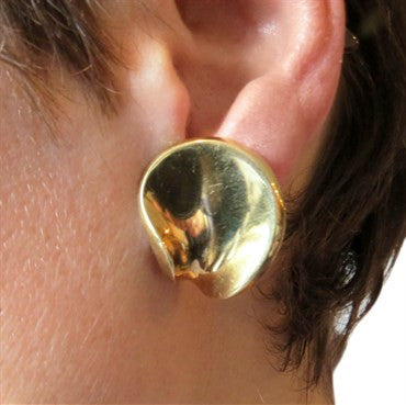 thumbnail image of Georg Jensen Gold Twist Earrings
