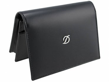 thumbnail image of ST Dupont Black Leather D Line Business Card Holder 077026