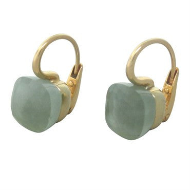 thumbnail image of Pomellato Nudo 18k Gold Aquamarine Earrings