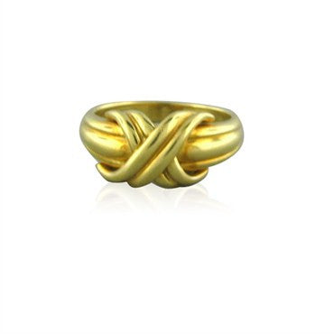 thumbnail image of Tiffany & Co Signature 18K Yellow Gold X Ring