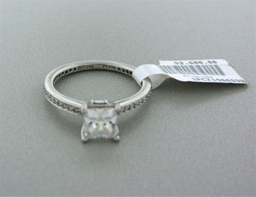 thumbnail image of NEWNew Ritani Platinum Diamond Engagement Ring Setting For 1.00ct