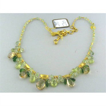 image of New Gurhan 24k Gold Multi Gemstone Necklace