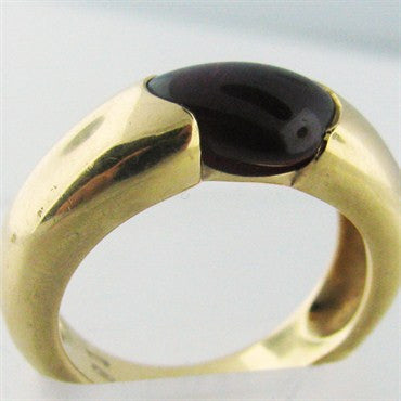 thumbnail image of Estate Pomellato 18k Gold Garnet Ring