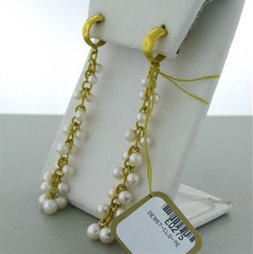 thumbnail image of New Gurhan Bacchus 24k Gold Pearl Drop Earrings