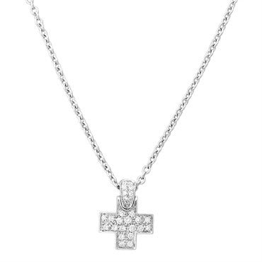 thumbnail image of New Pomellato 18k Gold Diamond Cross Pendant Necklace