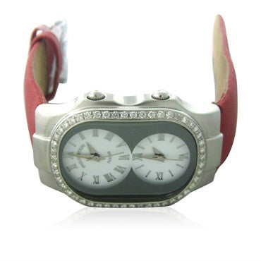 image of Philip Stein Teslar Dual Time Diamond Ladies Watch