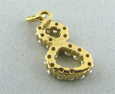 image of Hearts On Fire Lucky Eight 18K Gold Diamond Charm Pendant