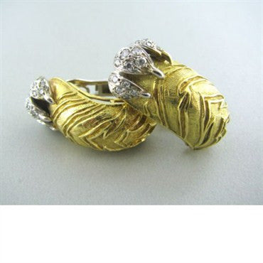 image of Frascarolo Italy 18k Gold Diamond Earrings