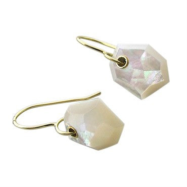 thumbnail image of New Ippolita 18K Yellow Gold Mother Of Pearl Drop Earrings