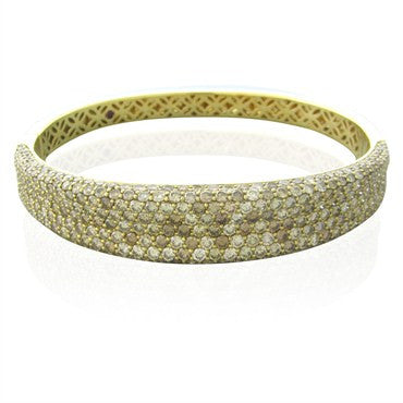 thumbnail image of Roberto Coin 18K Yellow Gold 8.00ctw Fancy Diamond Bangle Bracelet
