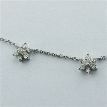 image of Hearts On Fire Garden Flower 18k Gold Diamond Necklace