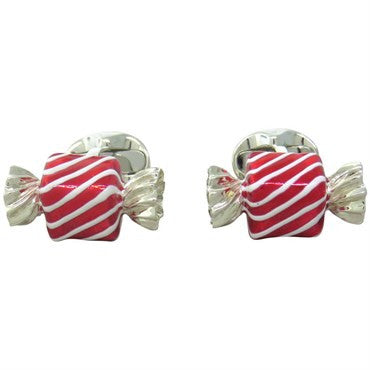 image of Deakin & Francis Sterling Silver Square Candy Cufflinks