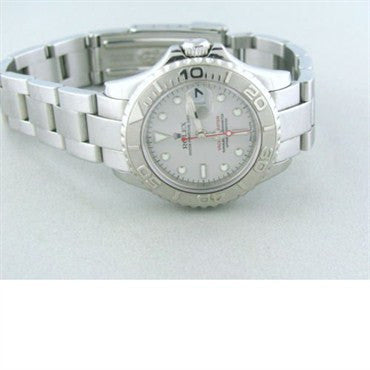 thumbnail image of Rolex Yachtmaster Steel Platinum Ladies Watch 169622