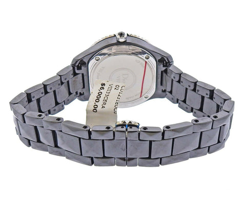 image of Dior VIII Black Ceramic Diamond Watch CD1231E0C002