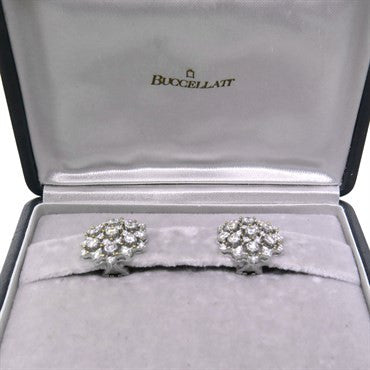 thumbnail image of Buccellati Diamond 18k Gold Earrings