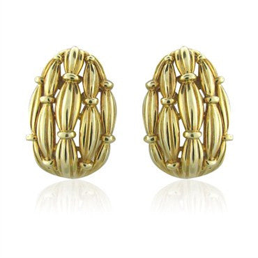 image of Large Circa 1992 Vintage Tiffany & Co 18k Gold Earrings