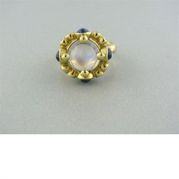 thumbnail image of Temple St. Clair 18k Gold Moonstone Diamond Ring