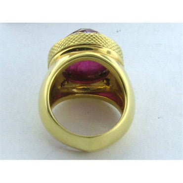 thumbnail image of Estate Stephen Webster 18k Gold Pink Stone Diamond Ring