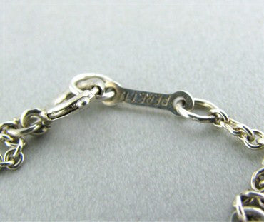 thumbnail image of Tiffany & Co Elsa Peretti Bean Sterling Silver Necklace
