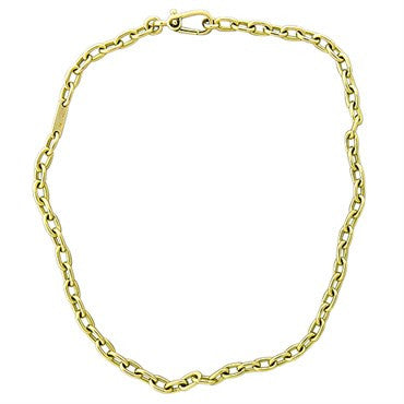 thumbnail image of New Pomellato 18k Gold Oval Link Chain Necklace