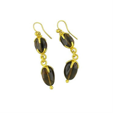 image of New Gurhan Star 24K Gold Cognac Citrine Drop Earrings