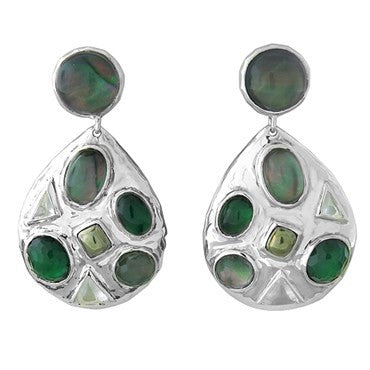 thumbnail image of New Ippolita Sterling Wonderland Mosaic Prosecco Gemstone Earrings