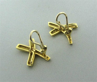 thumbnail image of 1984 Vintage Tiffany & Co Paloma Picasso 18K Gold X Earrings