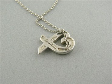 image of Tiffany & Co. Paloma Picasso Sterling Loving Heart Pendant Necklace