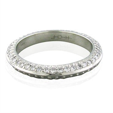 image of Hearts On Fire Felicity Knife Edge Tapered Eternity Diamond Band Ring