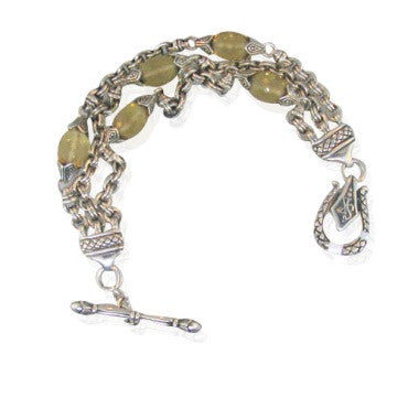 image of Scott Kay Sterling Champagne Quartz Bracelet