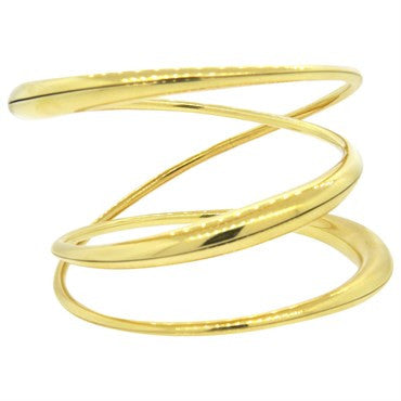 image of Michael Good 18k Gold Wide Twist Bangle Bracelet