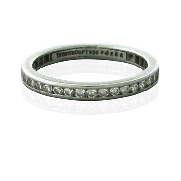 image of Tiffany & Co Platinum Diamond Eternity 2.2mm Band Ring