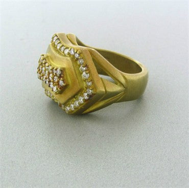 image of Slane & Slane 18K Yellow Gold Diamond Ring