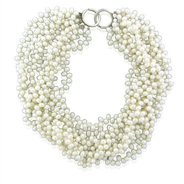 image of Tiffany & Co Paloma Picasso Pearl Torsade Sterling Silver Necklace