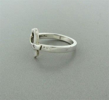 thumbnail image of Tiffany & Co Paloma Picasso Loving Heart Sterling Silver Diamond Ring