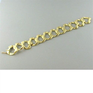 thumbnail image of Estate Tiffany & Co 18k Gold Heart Link Bracelet